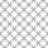 Seamless abstract black and white circle grid pattern - simple halftone vector background graphic Royalty Free Stock Photos