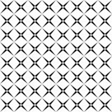 Seamless abstract black and white square grid pattern - halftone vector background design from diagonal rounded squares vector illustration