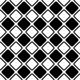 Seamless abstract black and white square grid pattern - halftone vector background design from diagonal rounded squares. Seamless abstract black and white square Stock Photography