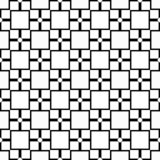 Seamless abstract black and white square grid pattern - halftone vector background design from diagonal rounded squares Repeated d vector illustration