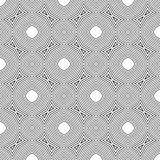 Black and white seamless pattern geometrical lining. Background, squares. stock illustration