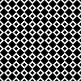 Seamless abstract black and white square pattern - halftone vector background from diagonal squares Royalty Free Stock Image
