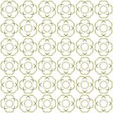 Seamless abstract black yellow texture fractal patterns. On white background. Arranged in a staggered manner two large floral fractal patterns Stock Images