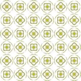 Seamless abstract black yellow texture fractal patterns. On white background. Arranged in a staggered manner two large floral fractal patterns Royalty Free Stock Image