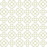 Seamless abstract black yellow texture fractal patterns. On white background. Arranged in a staggered manner two large floral fractal patterns Royalty Free Stock Photography