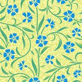 Seamless abstract blue cornflower background. Pattern Stock Photography