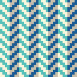 Seamless abstract blue geometric pixel arrow pattern in vector. In flat design style Stock Photography