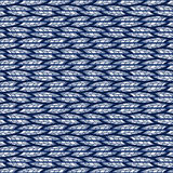 Seamless abstract blue pattern of horizontal doodles. Stock Image