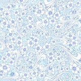 Seamless abstract blue pattern. Orient or russia design. luxury ornamentation, floral wrapping vector wallpaper, swatch Stock Photo