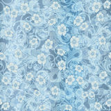 Seamless abstract blue pattern. seamless paisley attern. Orient or russia design. luxury ornamentation, floral wrapping Royalty Free Stock Images