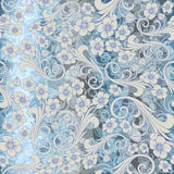 Seamless abstract blue pattern. seamless paisley vector attern. Orient or russia design. luxury ornamentation, floral Royalty Free Stock Image