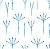 Seamless abstract blue trees on white background Royalty Free Stock Photography