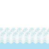Seamless abstract blue wave texture (Vector Stock Photos
