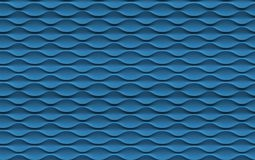 Seamless Abstract Blue Wave Textured Wall Royalty Free Stock Image