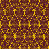 Seamless Abstract Brown Orient Pattern Stock Image