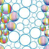 Seamless abstract bubbles Royalty Free Stock Photos