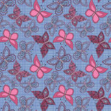 Seamless abstract with butterflies pattern  background Royalty Free Stock Images
