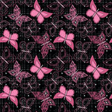 Seamless abstract  with butterflies  pattern stylish background Stock Photography