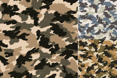 Seamless abstract camouflage pattern Stock Images