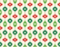 Seamless Abstract Christmas Pattern with Stylized Christmas Ball. S  on Beige Background Stock Photos