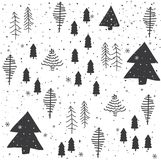 Seamless abstract Christmas trees pattern Stock Images