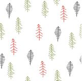 Seamless abstract Christmas trees pattern Royalty Free Stock Photography