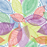 Seamless abstract color leaves pattern. Vector  illustration Royalty Free Stock Photography
