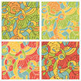 Seamless abstract colored patterns Royalty Free Stock Photography