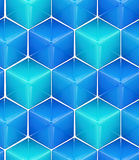 Seamless abstract colorful background. Made of cubes and hexagons Stock Image