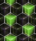 Seamless abstract colorful background. Made of cubes and hexagons Royalty Free Stock Photography
