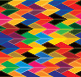 Seamless abstract colorful background of arrows &  Royalty Free Stock Photo