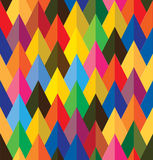 Seamless abstract colorful background of cones or  Stock Photo