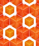 Seamless abstract colorful background. Made of cubes and hexagons Stock Photos