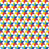Seamless abstract colorful background of star shap Stock Photography