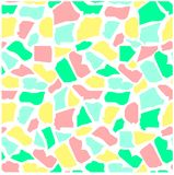 Seamless abstract colorful giraffe skin texture on white. Stock vector illustration Stock Illustration