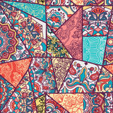 Seamless abstract colorful patchwork pattern. Royalty Free Stock Image
