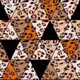 Seamless abstract colorful pattern, leopard skin texture. Fashionable pattern Royalty Free Stock Images