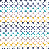 Seamless Abstract Colorful Stars Pattern Royalty Free Stock Images
