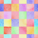 Seamless abstract colorful watercolor squares background Royalty Free Stock Photos