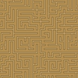 Seamless abstract complex maze, labyrinth. Background brown royalty free illustration