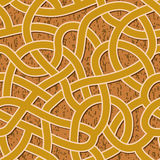 Seamless abstract complex maze, labyrinth path. Seamless brown abstract complex maze, labyrinth path background royalty free illustration