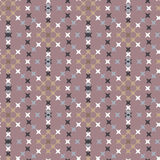 Seamless Abstract Cross Stitch Embroidery Pattern Stock Photos