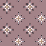 Seamless Abstract Cross Stitch Embroidery Pattern Stock Photo
