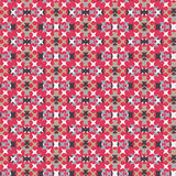Seamless Abstract Cross Stitch Embroidery Pattern Stock Photography