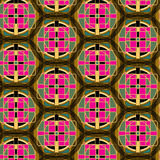 Seamless abstract crosses multicolor celtic pattern Royalty Free Stock Photography