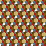 Seamless, abstract cube pattern. Colorful design, geometric. 3d vector wallpaper, cube pattern Royalty Free Stock Image