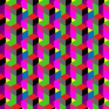 Seamless, abstract cube pattern. Colorful design, geometric. 3d vector wallpaper, cube pattern Stock Images