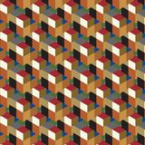 Seamless, abstract cube pattern. Colorful design, geometric. 3d vector wallpaper, cube pattern Stock Photography