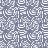 Seamless abstract curl pattern Royalty Free Stock Photos