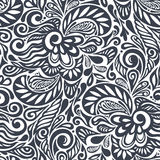Seamless abstract curly floral pattern Royalty Free Stock Image